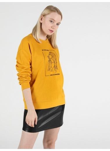 Colin's Sarı Kadın Sweatshirt Sarı